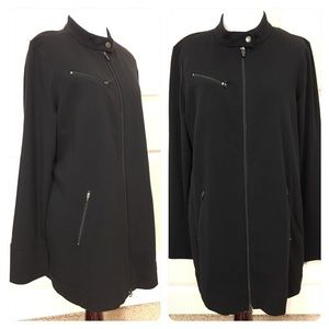 NWT! Eileen Fisher stand collar long jacket.